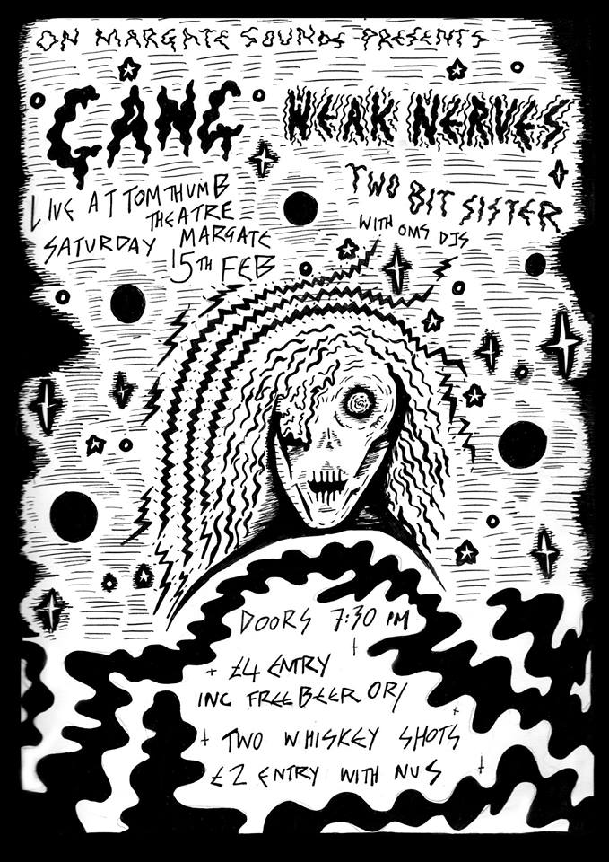Upcoming Event... On Margate Sounds Presents GANG//WEAK NERVES//TWO BIT SISTER